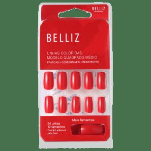 Belliz Red Wine - Unhas Postiças (24 unidades)