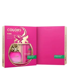 Conjunto Colors Pink Deo Benetton - Eau de Toilette + Desodorante