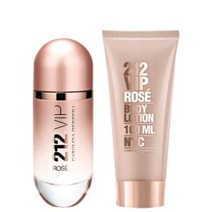 Conjunto 212 VIP Rosé Carolina Herrera Feminino - Eau de Parfum 80ml + Loção 100ml