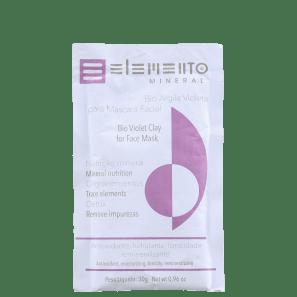 Elemento Mineral Bio Argila Violeta - Máscara Facial 30g