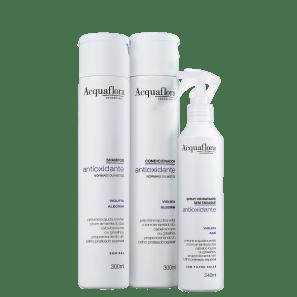 Kit Acquaflora Antioxidante Normais ou Mistos Leave-In (3 Produtos)