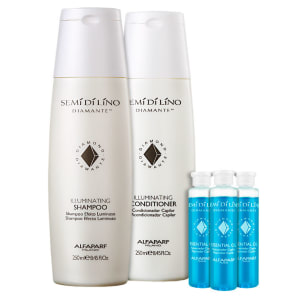 Kit Alfaparf Semi di Lino Diamante Essential Shine (3 Produtos)