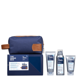 Kit Barba Dr. Jones The Shave Box (3 produtos + Nécessaire)