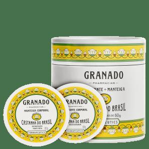Kit Granado Terrapeutics Castanha do Brasil - Esfoliante 60g + Hidratante 60g