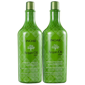 Kit Inoar Argan Oil System Argan Oil Salon Duo (2 Produtos)