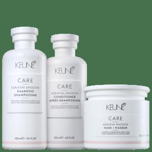 Kit Keune Care Keratin Smooth Reconstrução Profunda (3 Produtos)