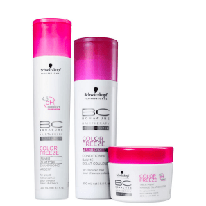 Kit Schwarzkopf Professional BC Bonacure Color Freeze Silver Trio (3 Produtos)