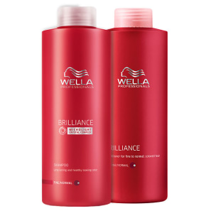 Kit Wella Professionals Brilliance Duo Litro (2 Produtos)