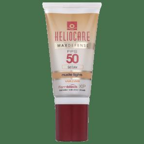 Melora Heliocare Max Defense Gel Color Nude Light FPS 50 - Protetor Solar com Cor 50g