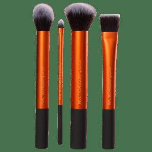 Real Techniques Kit de Pinceis Flawless Base (4 produtos)