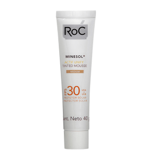 RoC Minesol Actif Unify Tinted Mousse Medium FPS 30 - Protetor Solar Facial 40g