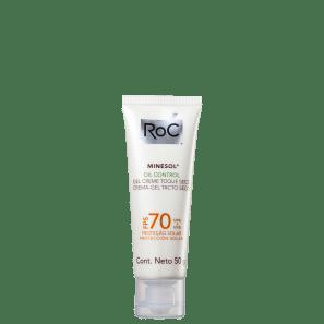 RoC Minesol Oil Control Gel-Creme FPS 70 - Protetor Solar Facial 50g