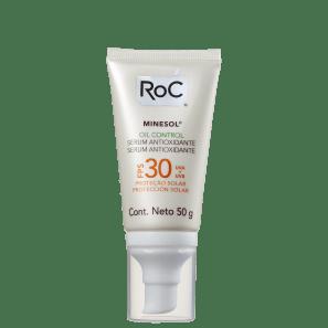 RoC Minesol Oil Control Sérum Antioxidante FPS 30 - Protetor Solar Facial 50g