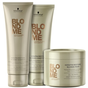 Kit Schwarzkopf Professional BlondMe Keratin Restore All Blondes Trio (3 Produtos)