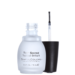 SinfulColors Professional Top Shine Topcoat Brilliant - Finalizador Extrabrilho 15ml