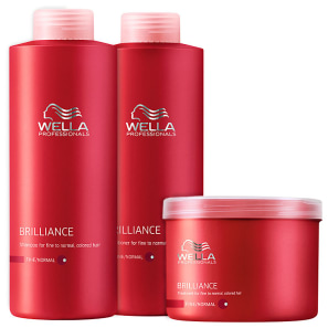 Kit Wella Professionals Brilliance Intense Litro (3 Produtos)
