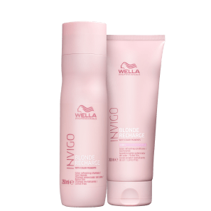 Kit Wella Invigo Blonde Recharge Duo (2 Produtos)