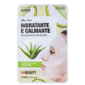 Kiss New York Aloe Vera Hidratante e Calmante - Máscara Facial 20ml