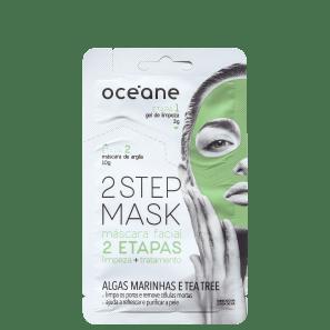 Océane 2 Step Algas Marinhas e Tea Tree - Máscara Facial 13g