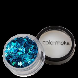 Glitter Colormake Shine Formatos Borboleta Azul Turquesa