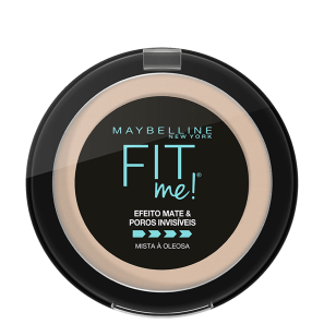 Maybelline Fit Me! B01 Super Claro Bege - Pó Compacto Matte 10g