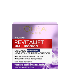 L'Oréal Paris Revitalift Hialurônico Tratamento Noturno - Creme Facial Anti-Idade 50ml
