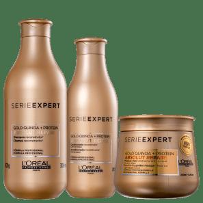 Kit L'Oréal Absolut Repair Gold Quinoa + Protein Golden Trio
