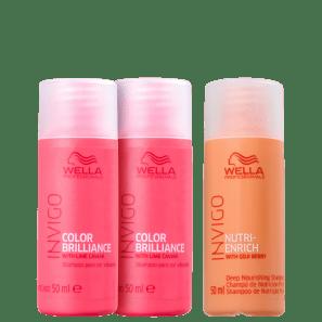 Kit Wella Professionals Nutri Brilliance Wash (3 Produtos)