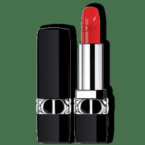 Dior Rouge Recarregável 080 Red Smile - Batom Acetinado 3,5g