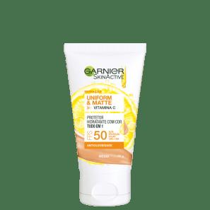 Garnier SkinActive Uniform & Matte Vitamina C FPS 50 - Protetor solar