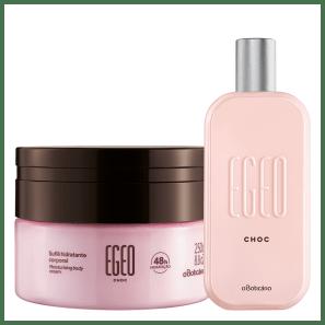 Combo Egeo Choc: Desodorante Colônia 90ml + Suflê Hidratante Desodorante 250g