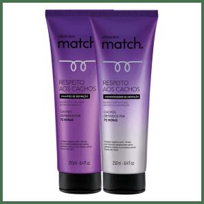 Combo Match Respeito aos Cachos: Shampoo + Condicionador