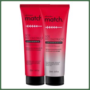 Combo Match SOS Reconstrução: Shampoo + Condicionador