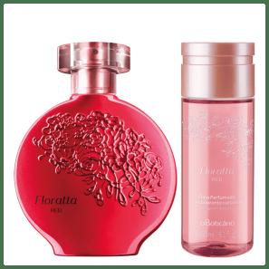 Combo Floratta Red: Desodorante Colônia + Óleo Perfumado Corporal