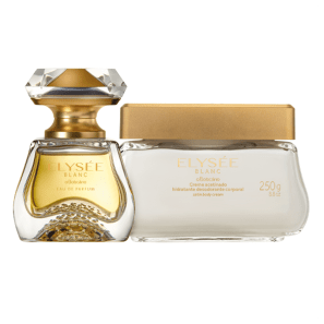 Combo Elysée Blanc: Eau de Parfum 50ml + Creme Acetinado Desodorante Hidratante 250g