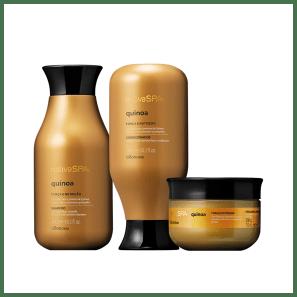 Combo Nativa Spa Quinoa: Shampoo + Condicionador + Máscara Capilar