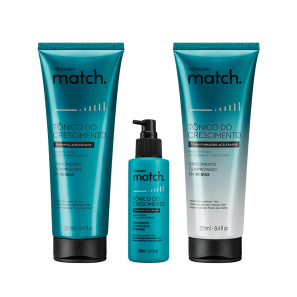 Combo Match Tônico Do Crescimento: Shampoo, 250ml + Condicionador, 250ml + Complexo Acelerador, 100ml