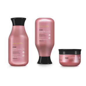 Combo Nativa Spa Rosé: Shampoo, 300 ml + Condicionador, 300 ml + Máscara, 200 g