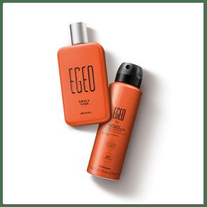 Combo Egeo Spicy Vibe: Desodorante Colônia 90ml + Antitranspirante Aerossol 75g