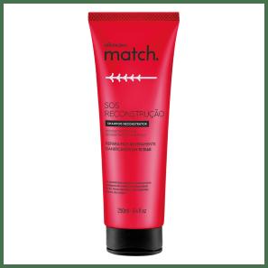 Shampoo Match SOS Reconstrução, 250ml