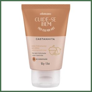 Creme Hidratante Desodorante Mãos Cuide-se Bem Castanhita, 50g