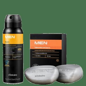 Combo Men: Sabonete Em Barra 2X90G + Desodorante Antitranspirante, 75G