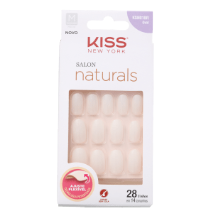 Kiss New York Salon Naturals Oval Médio - Unhas Postiças