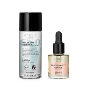 Combo Make B Cuidados Faciais: Solução Micelar Prebiótica, 110Ml + Make B Drops of Beauty Exilir Facial, 30Ml