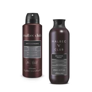 <strong>Combo Malbec Club: Shampoo 250ml + Desodorante Aerosol 75g</strong>