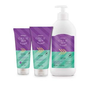 Combo Cuide-se Bem Ativa Loção Desodorante Hidratante 400ml + Sabonete Líquido 150g + Antitranspirante 80g