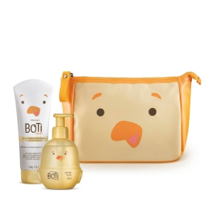 <strong>Combo Boti Baby: Necessaire + Loção Hidratante 150g + Sabonete Líquido 200ml</strong>