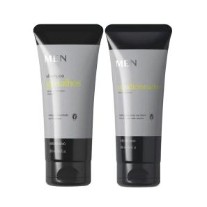 Combo MEN: Shampoo para Cabelos Grisalhos 200ml + Condicionador 200ml