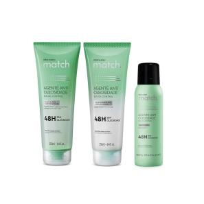 Combo Match Agente Antioleosidade: Shampoo 250ml + Condicionador 250ml + Shampoo à Seco 150ml
