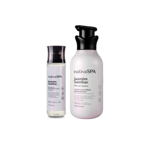 Combo Nativa SPA Jasmim Sambac: Loção Corporal 400ml + Body Splash 200ml